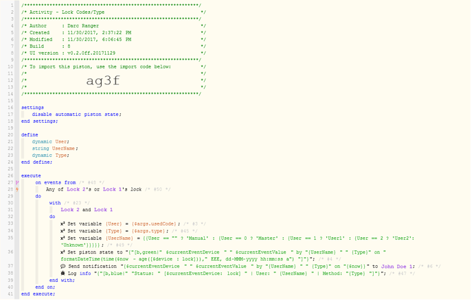 Lock Code and Activity Type2