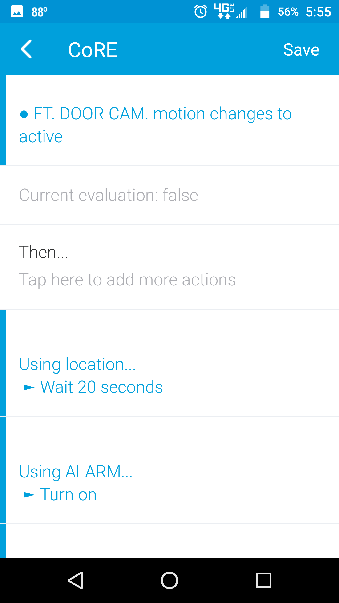 Help with a siren delay using arlo - CoRE: Piston Design