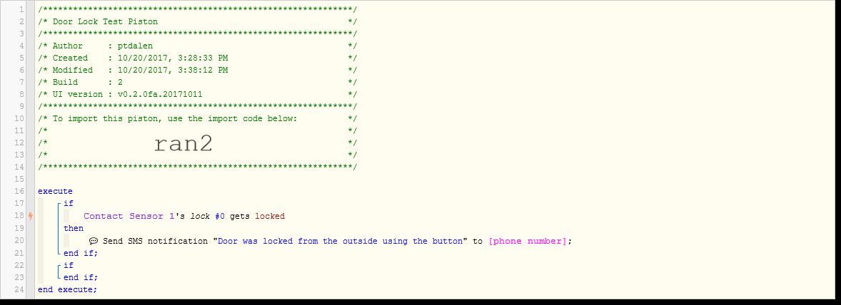 Door Locks and User Codes - Piston: Design Help - webCoRE Community