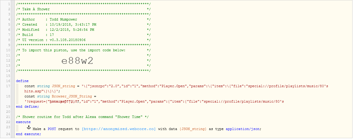 Creating and sending a JSON Object for POST HTTP Request - Piston