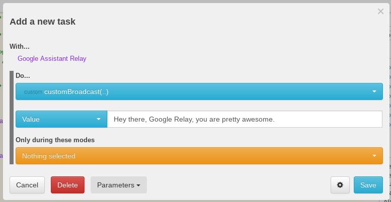 Pre-release - Send Google Home voice announcements via webCore ...