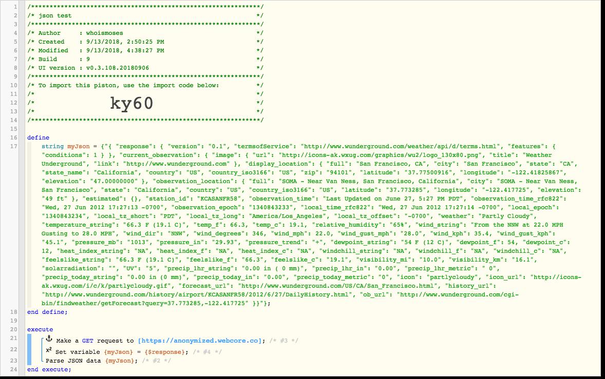 Another Parsing JSON Question! - Piston: Design Help