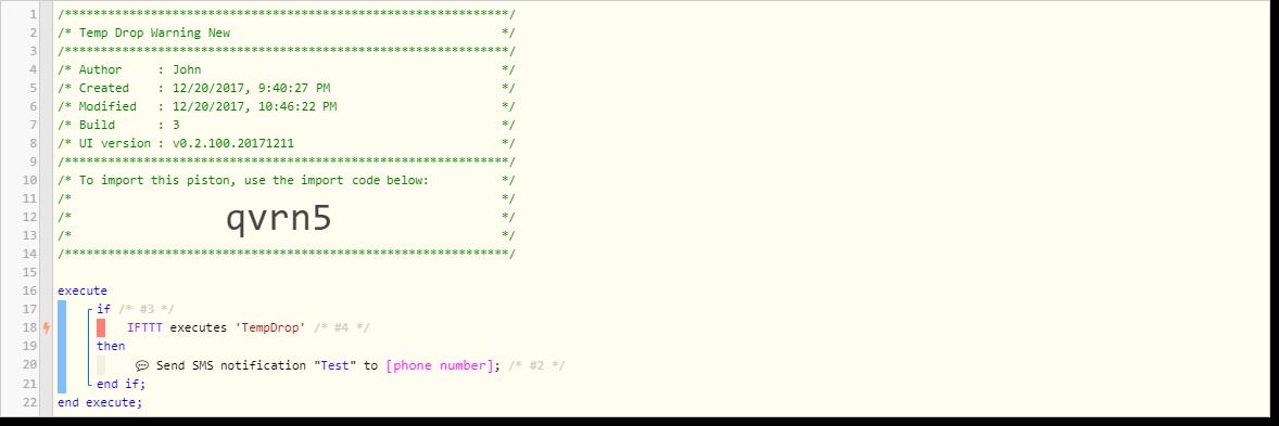 IFTTT Trigger webCore Piston (via POST/JSON) - Piston